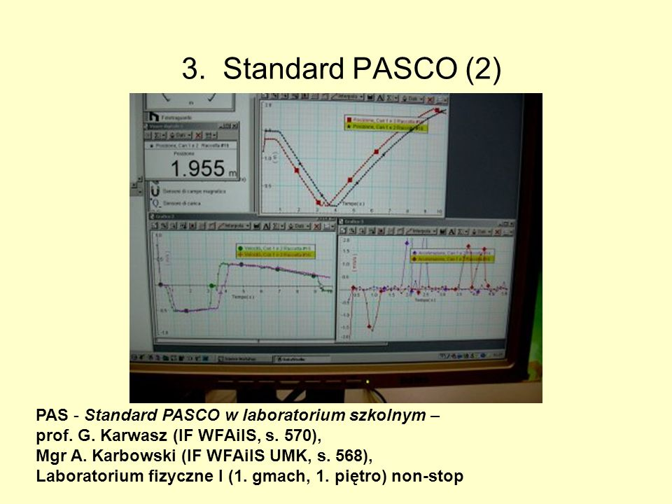 3. Standard PASCO (2) PAS - Standard PASCO w laboratorium szkolnym –