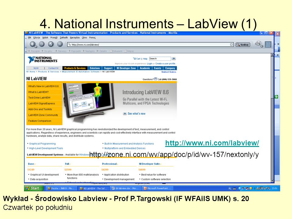 4. National Instruments – LabView (1)