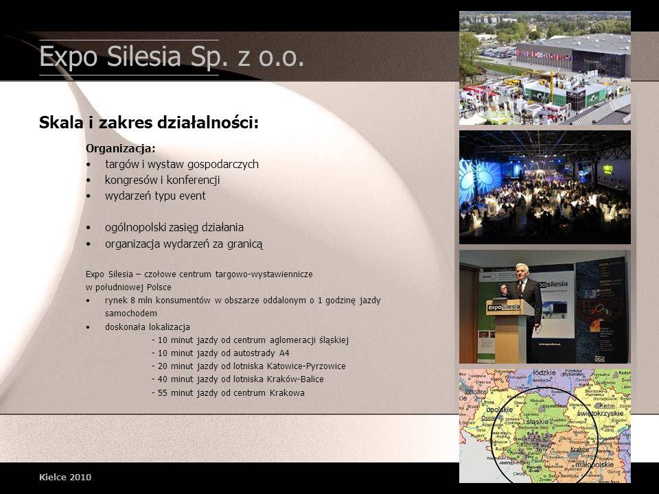 Expo Silesia Sp. z o.o. Skala i zakres działalności: Organizacja:
