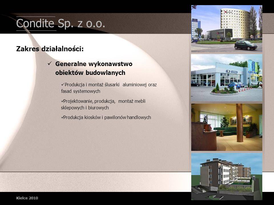 Condite Sp. z o.o. Zakres działalności: