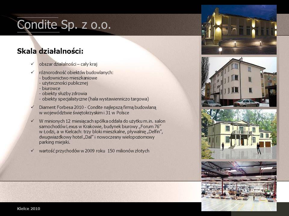 Condite Sp. z o.o. Skala działalności: obszar działalności – cały kraj