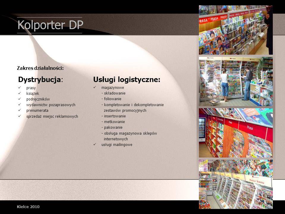 Kolporter DP Dystrybucja: Usługi logistyczne: Zakres działalności:
