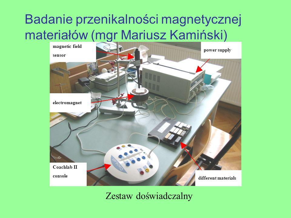 Badanie przenikalności magnetycznej materiałów (mgr Mariusz Kamiński)