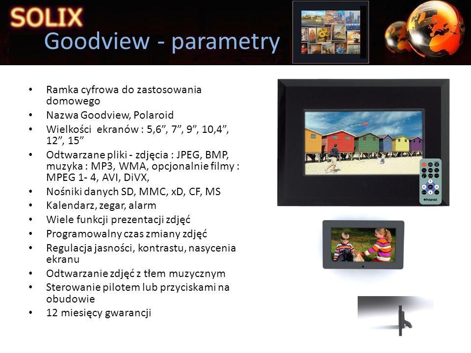 Goodview - parametry Ramka cyfrowa do zastosowania domowego