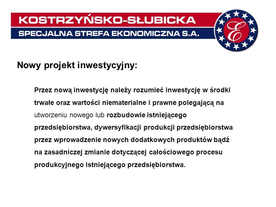 Nowy projekt inwestycyjny: