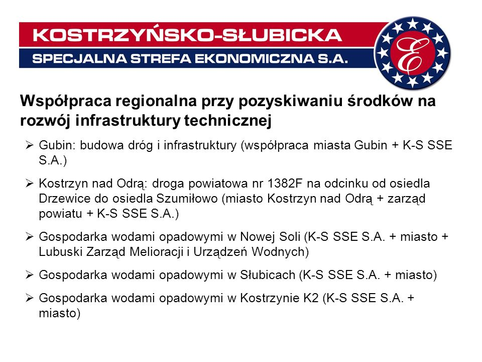 Współpraca regionalna przy pozyskiwaniu środków na rozwój infrastruktury technicznej