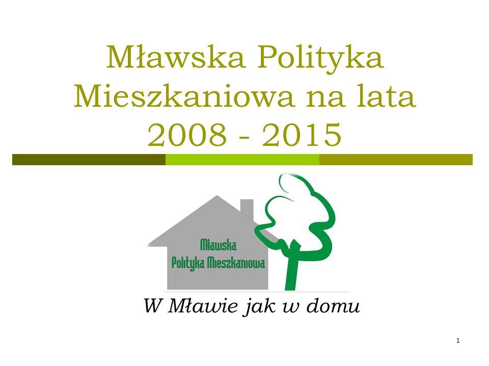 Mławska Polityka Mieszkaniowa na lata 2008 - 2015