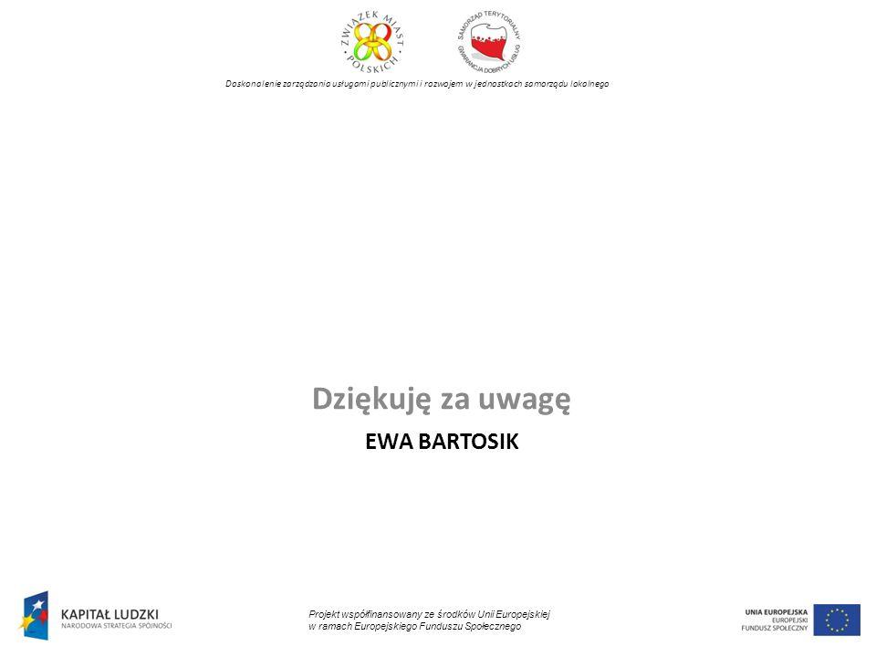 Dziękuję za uwagę Ewa Bartosik