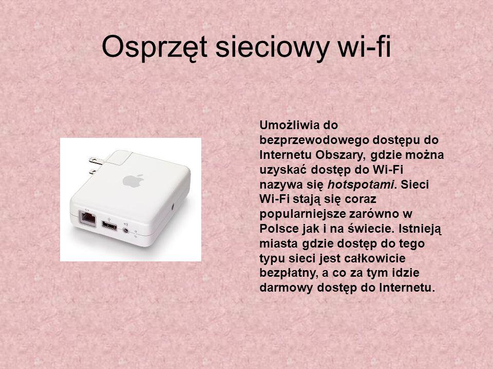 Osprzęt sieciowy wi-fi