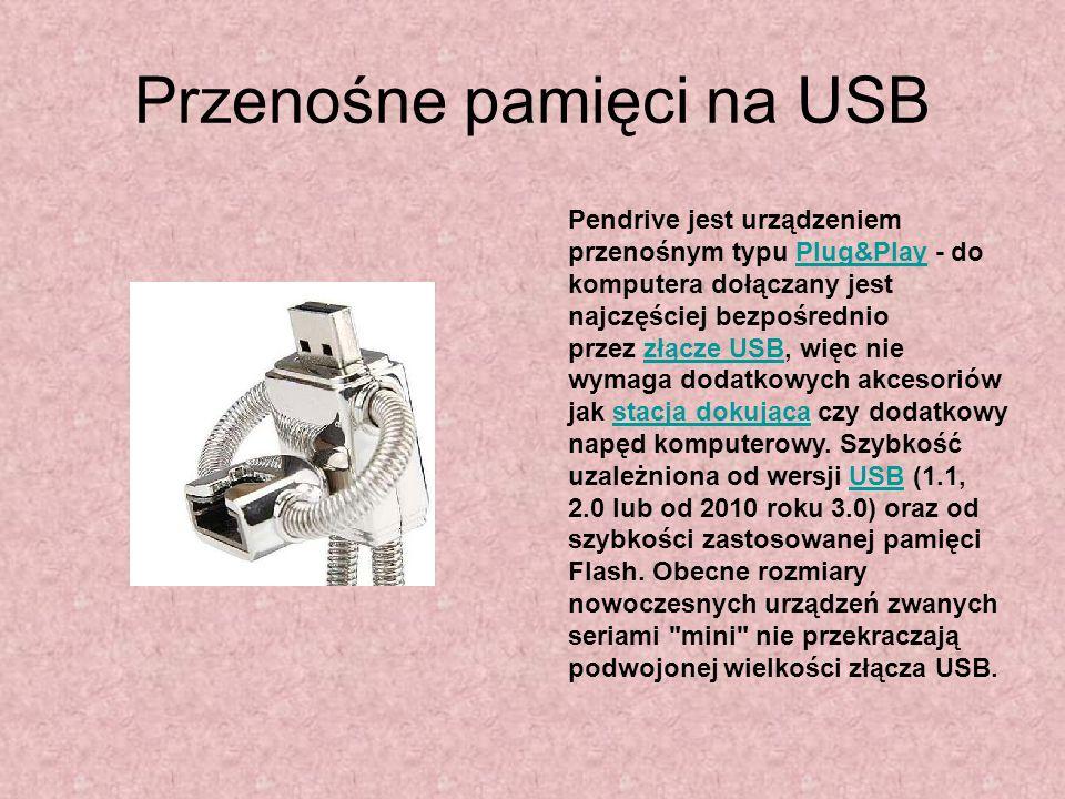 Przenośne pamięci na USB