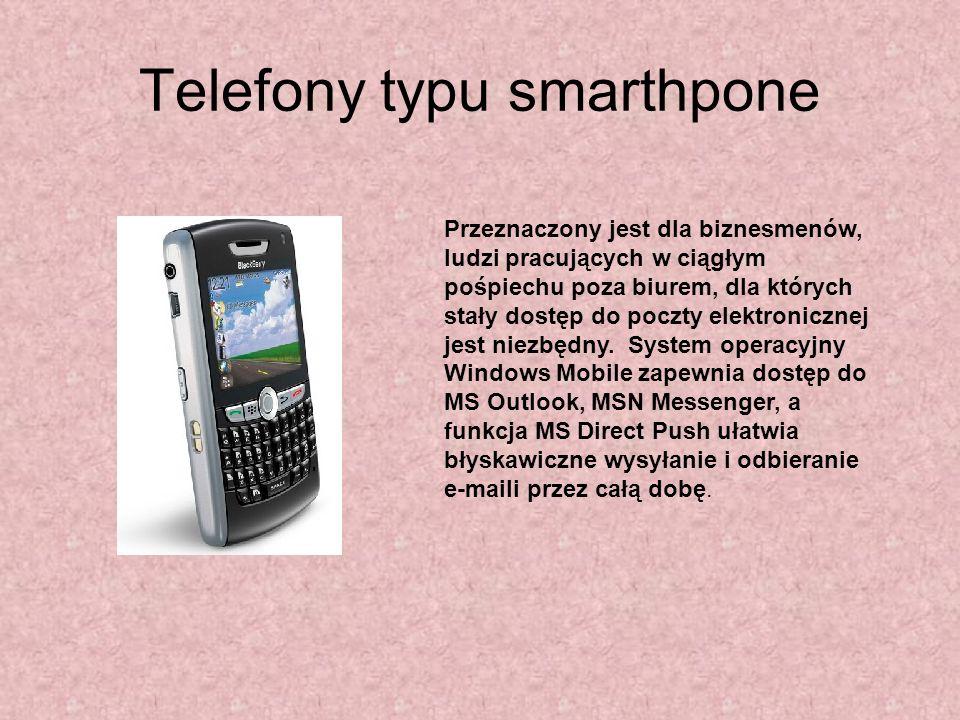 Telefony typu smarthpone