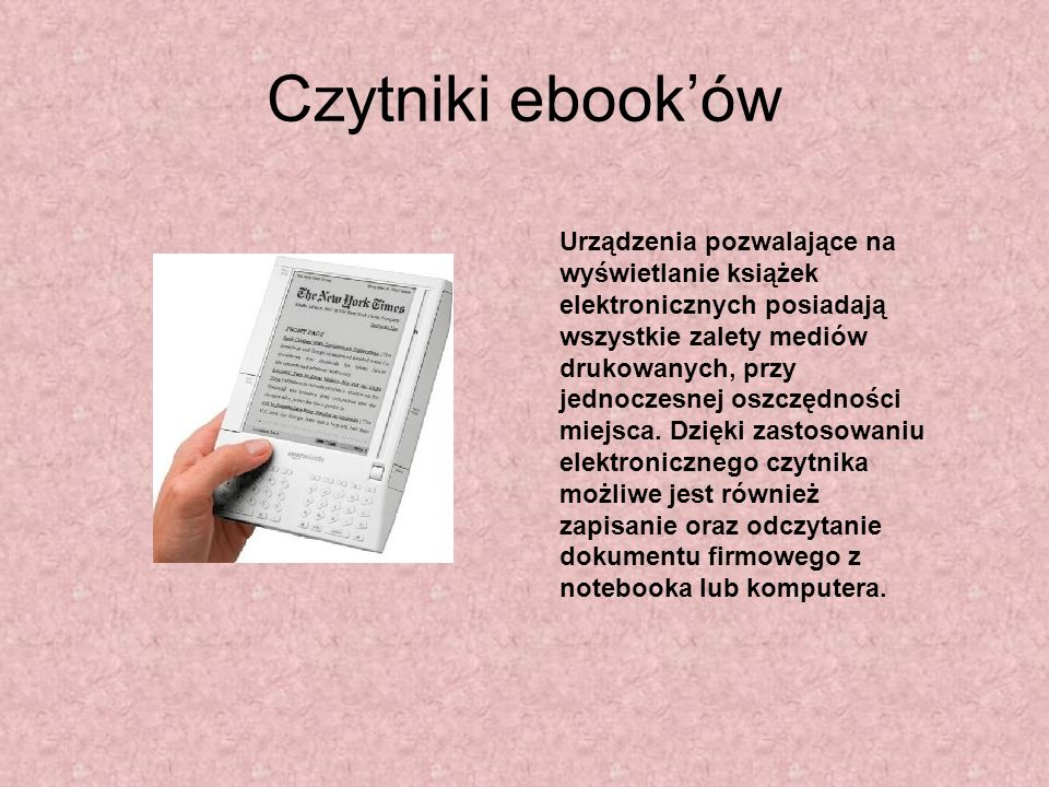 Czytniki ebook'ów