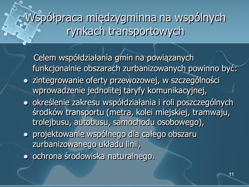 Współpraca międzygminna na wspólnych rynkach transportowych