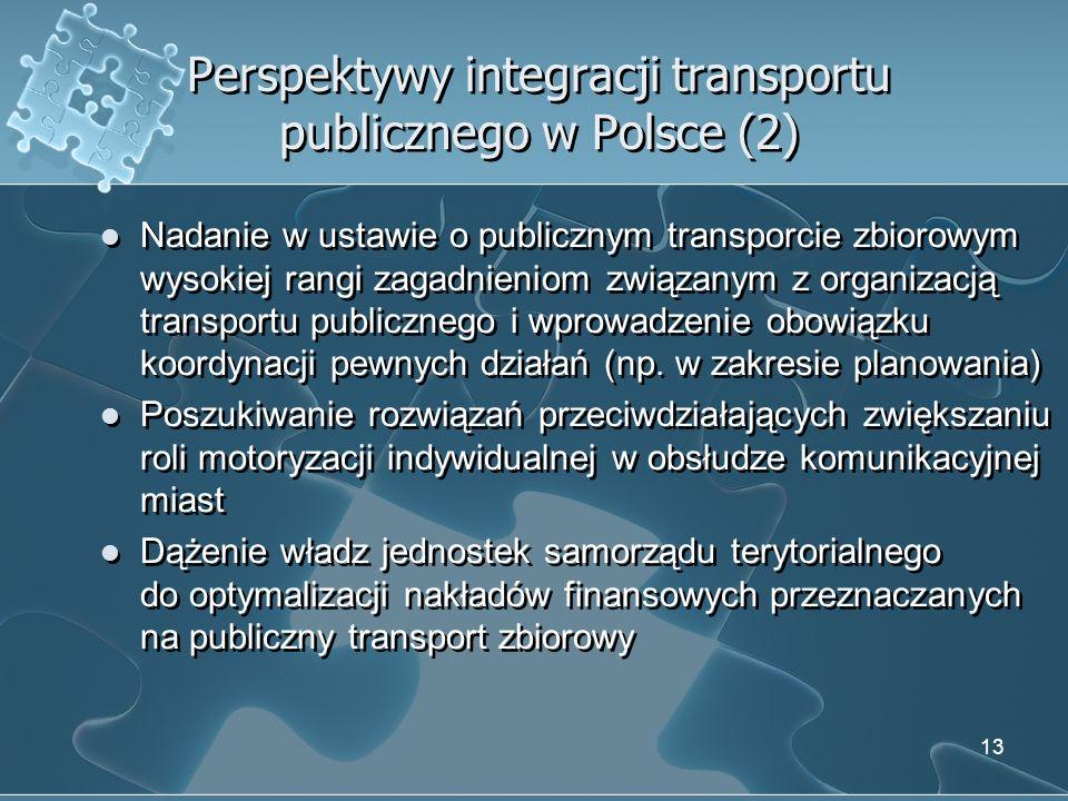 Perspektywy integracji transportu publicznego w Polsce (2)