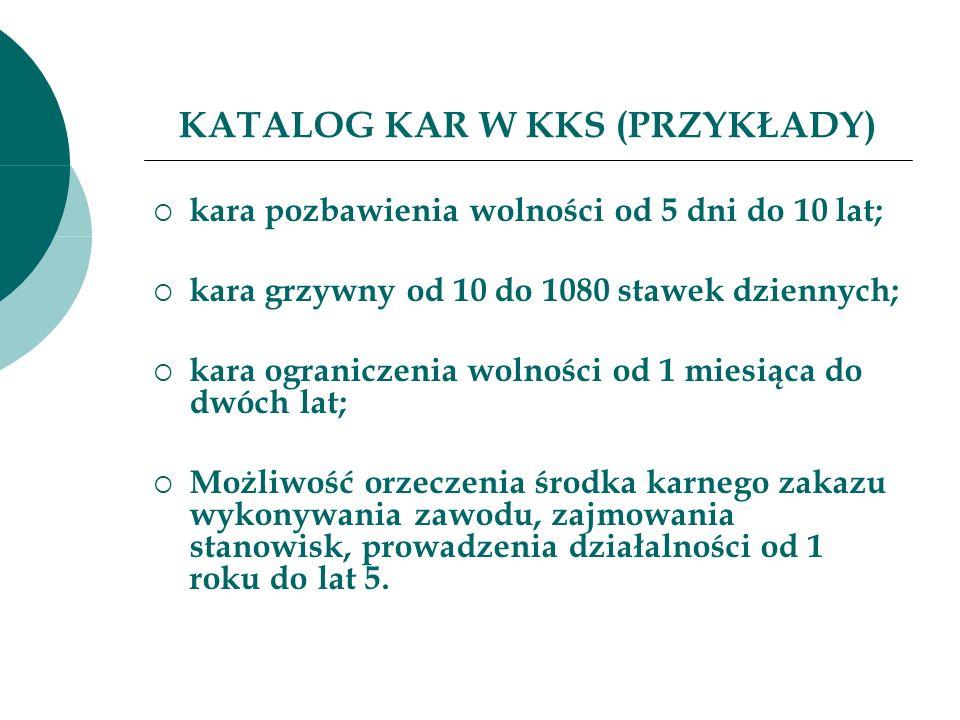 KATALOG KAR W KKS (PRZYKŁADY)