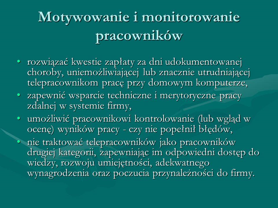 Motywowanie i monitorowanie pracowników