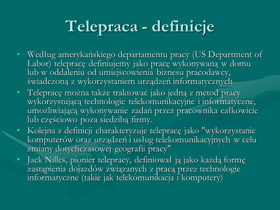 Telepraca - definicje