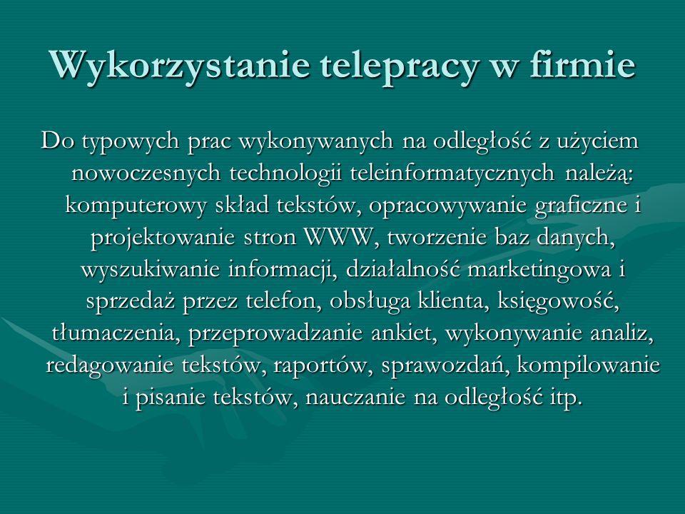 Wykorzystanie telepracy w firmie