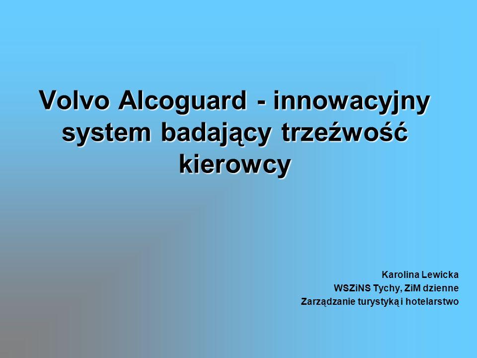 Volvo Alcoguard - innowacyjny system badający trzeźwość kierowcy