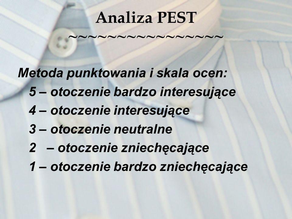 Analiza PEST ~~~~~~~~~~~~~~~~