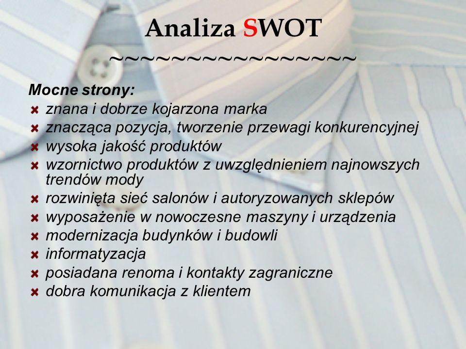 Analiza SWOT ~~~~~~~~~~~~~~~~