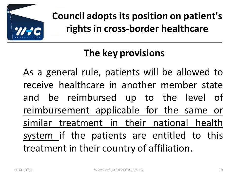Council adopts its position on patient s rights in cross-border healthcare