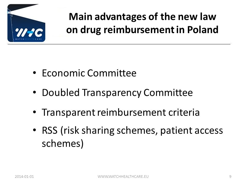 Main advantages of the new law on drug reimbursement in Poland