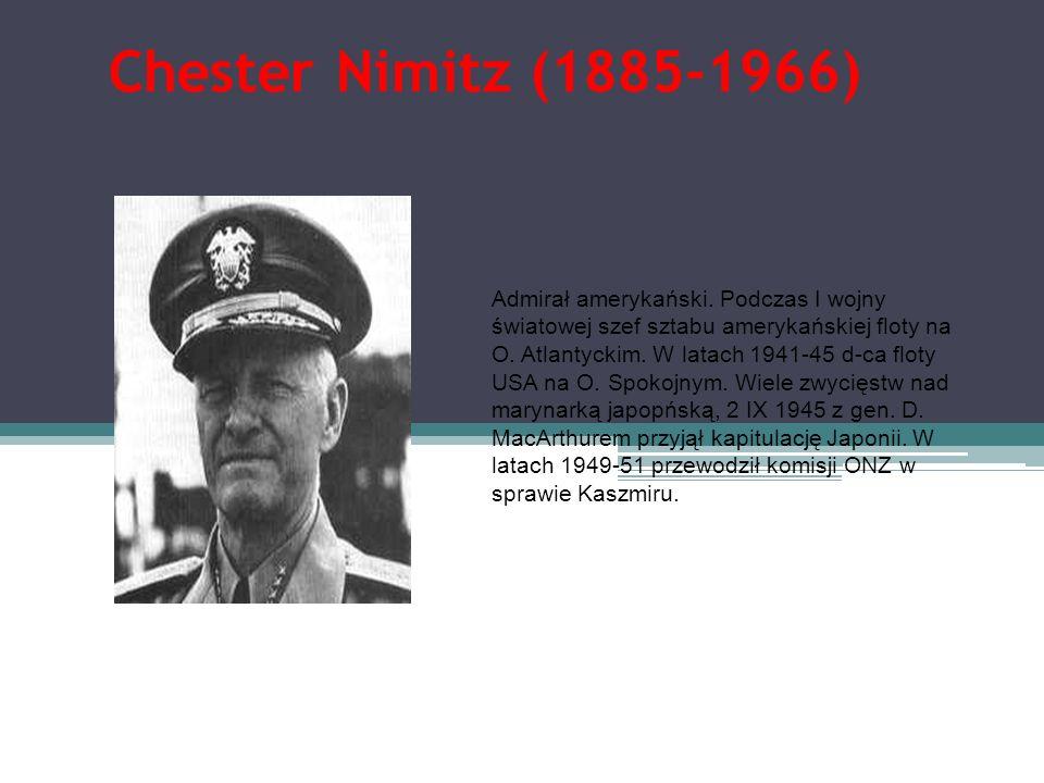 Chester Nimitz (1885-1966)