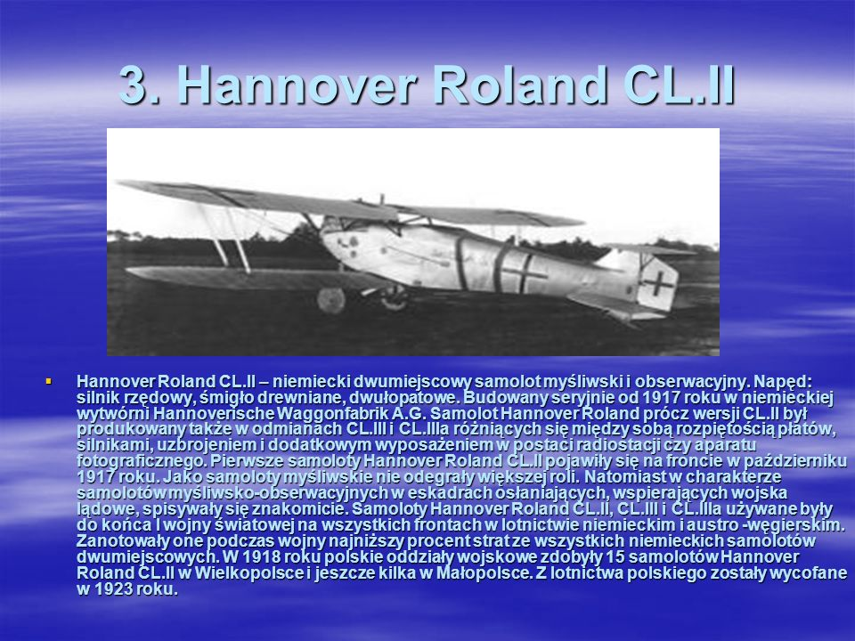 3. Hannover Roland CL.II