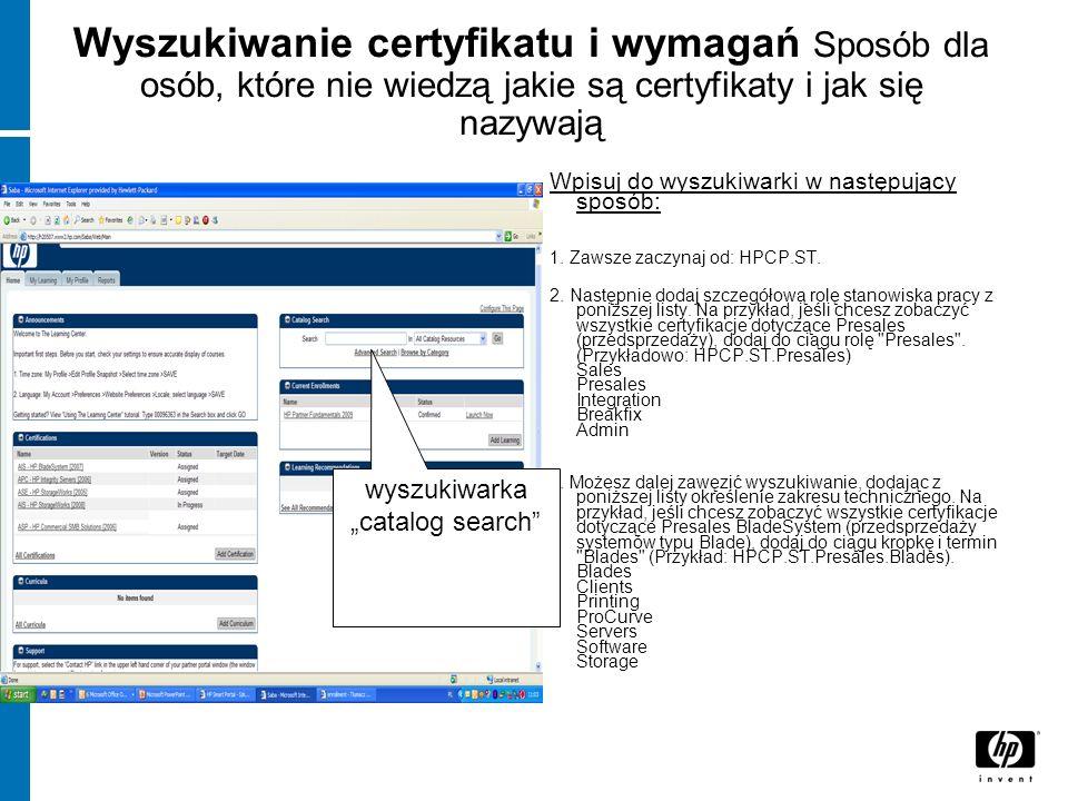 Wyszukiwanie certyfikatu i wymagań Sposób dla osób, które nie wiedzą jakie są certyfikaty i jak się nazywają