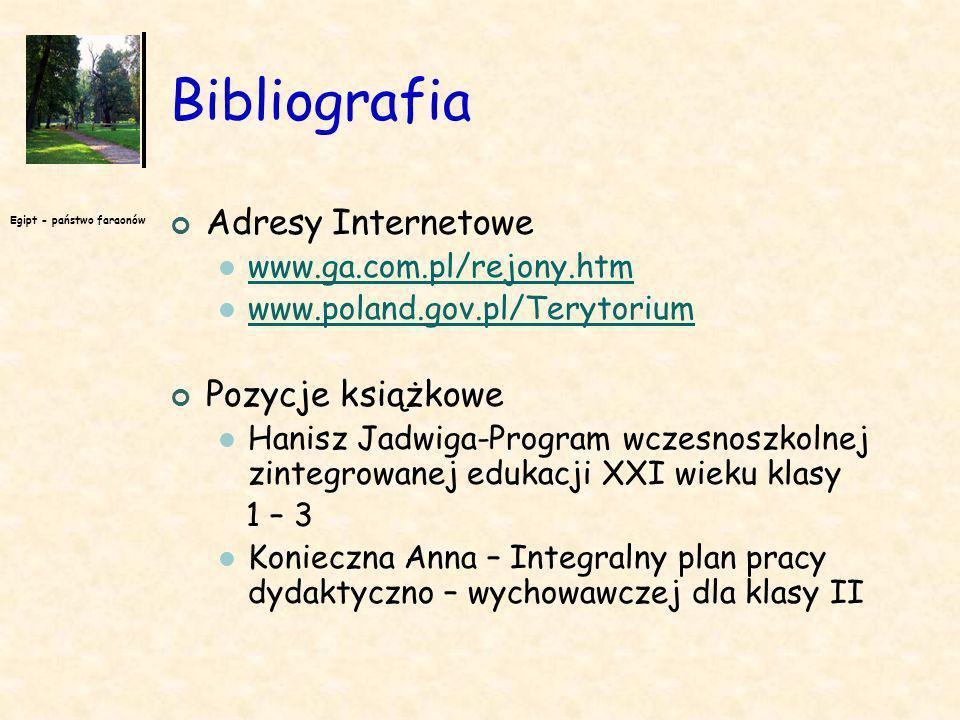 Bibliografia Adresy Internetowe Pozycje książkowe