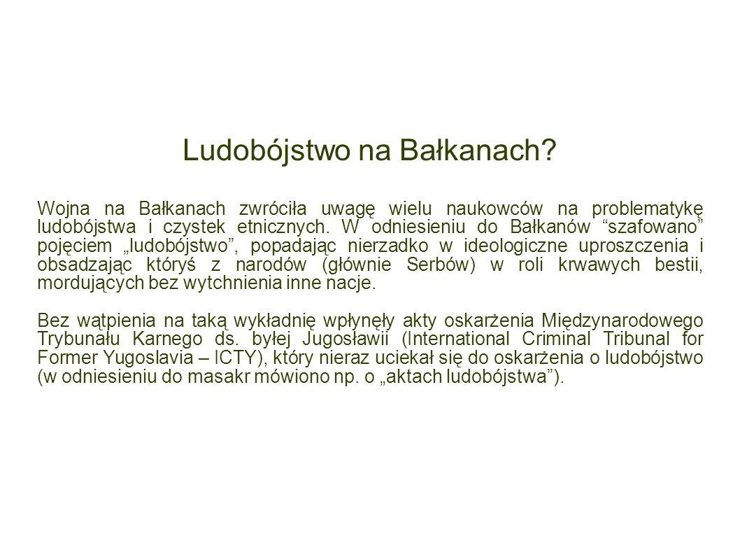 Ludobójstwo na Bałkanach