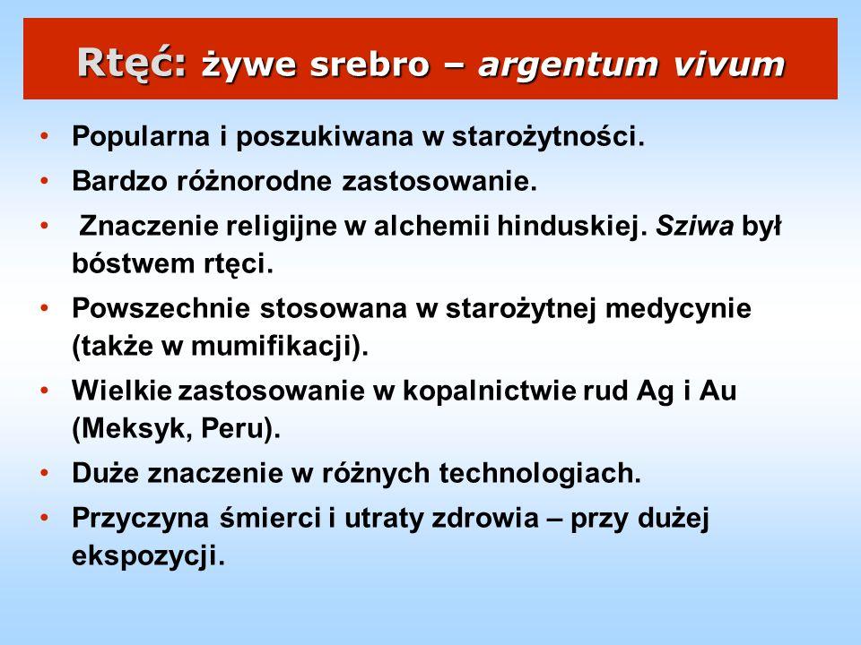 Rtęć: żywe srebro – argentum vivum