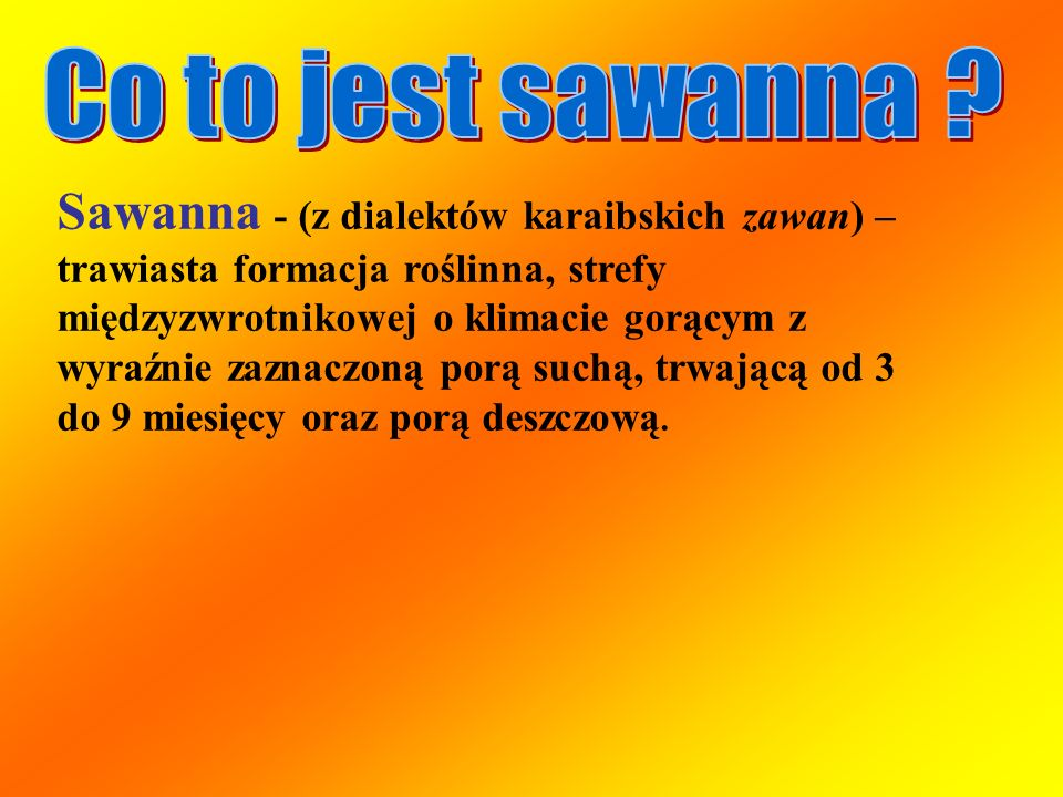 Co to jest sawanna