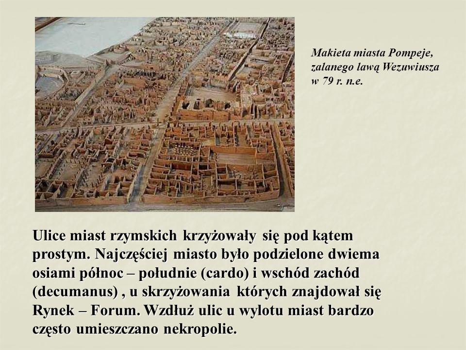 Makieta miasta Pompeje, zalanego lawą Wezuwiusza w 79 r. n.e.