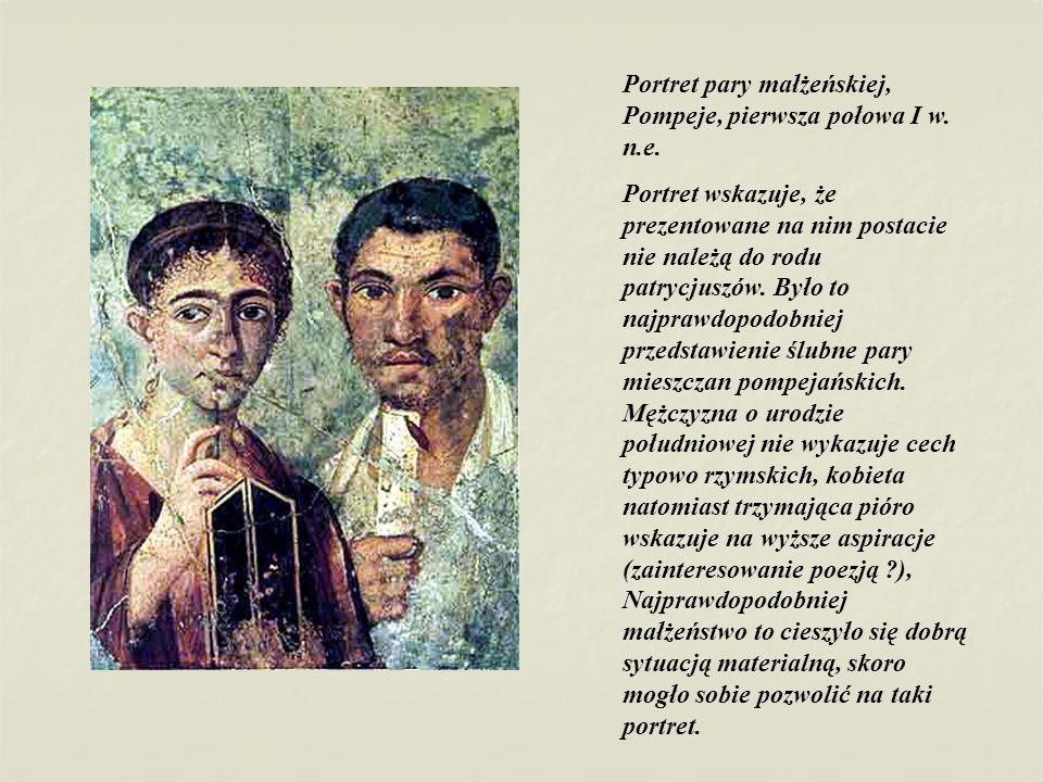 Portret pary małżeńskiej, Pompeje, pierwsza połowa I w. n.e.