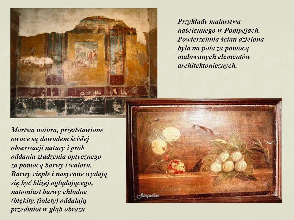 Przykłady malarstwa naściennego w Pompejach
