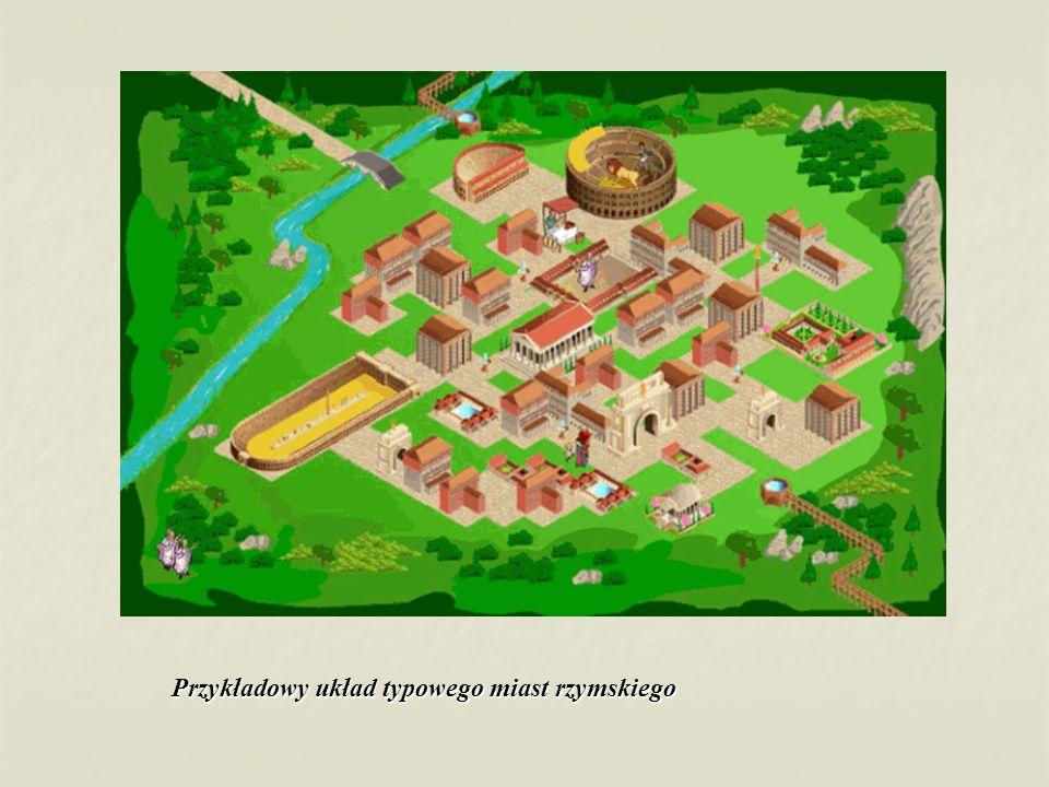 Przykładowy układ typowego miast rzymskiego
