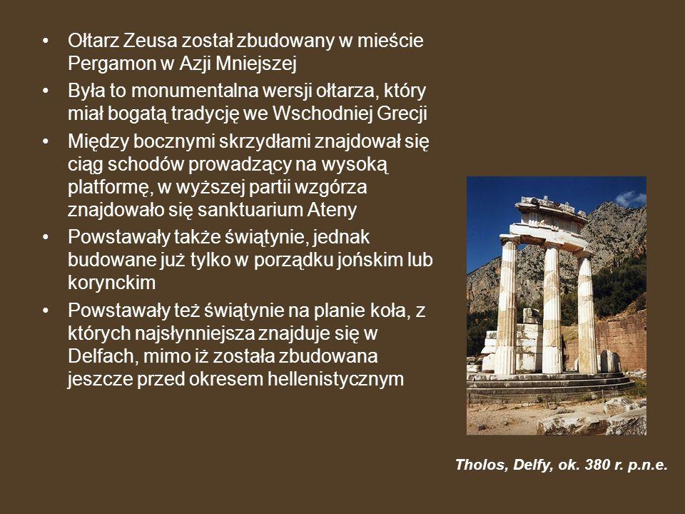 Ołtarz Zeusa został zbudowany w mieście Pergamon w Azji Mniejszej