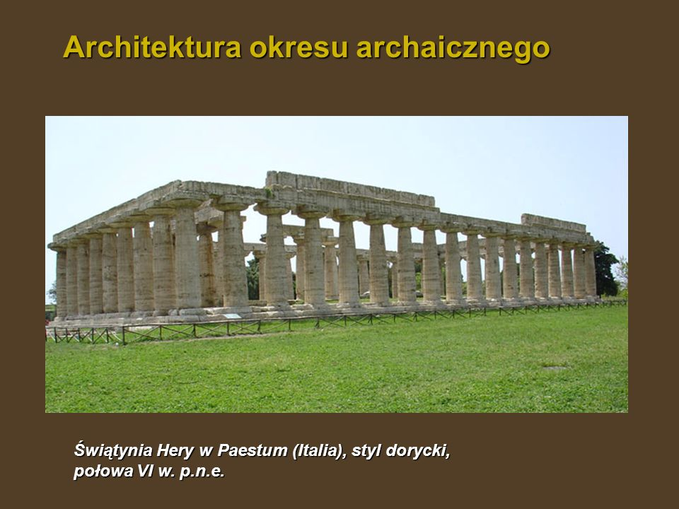 Architektura okresu archaicznego