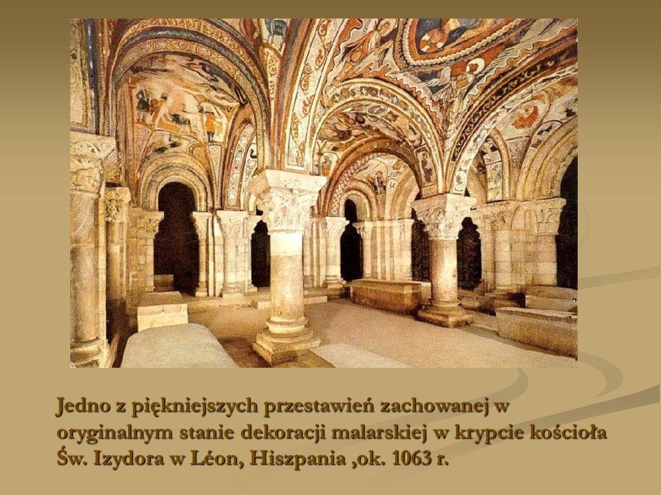 Jedno z piękniejszych przestawień zachowanej w oryginalnym stanie dekoracji malarskiej w krypcie kościoła Św.