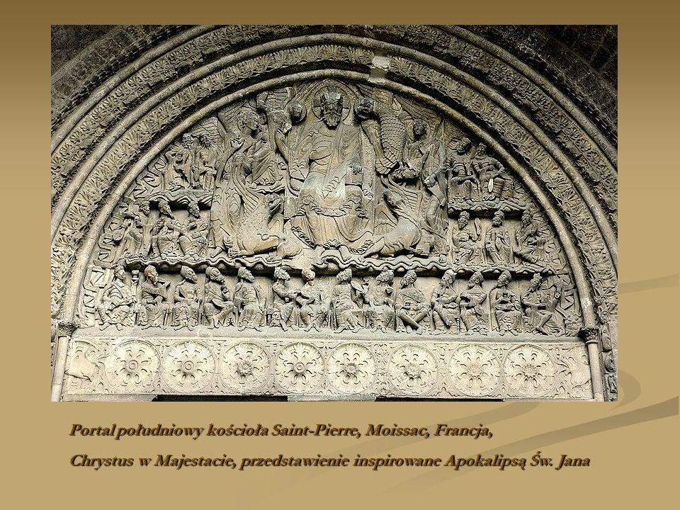 Portal południowy kościoła Saint-Pierre, Moissac, Francja,