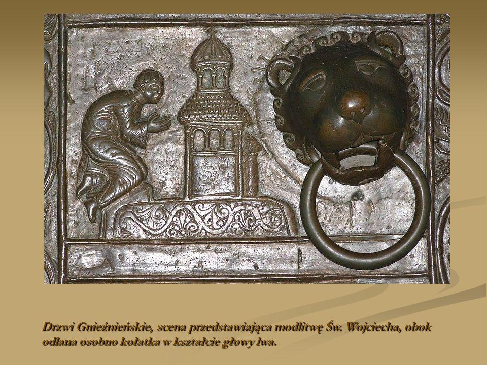 Drzwi Gnieźnieńskie, scena przedstawiająca modlitwę Św