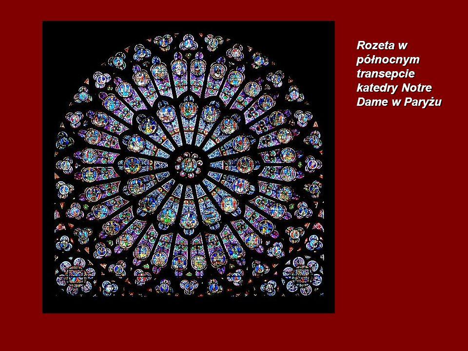 Rozeta w północnym transepcie katedry Notre Dame w Paryżu
