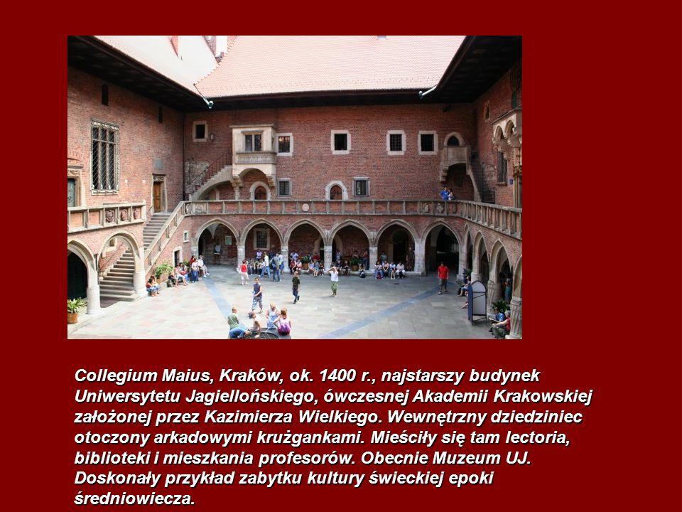 Collegium Maius, Kraków, ok. 1400 r