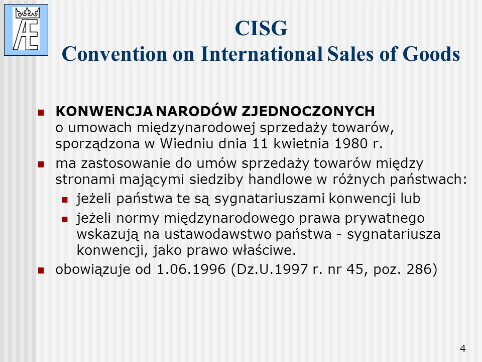 CISG Convention on International Sales of Goods