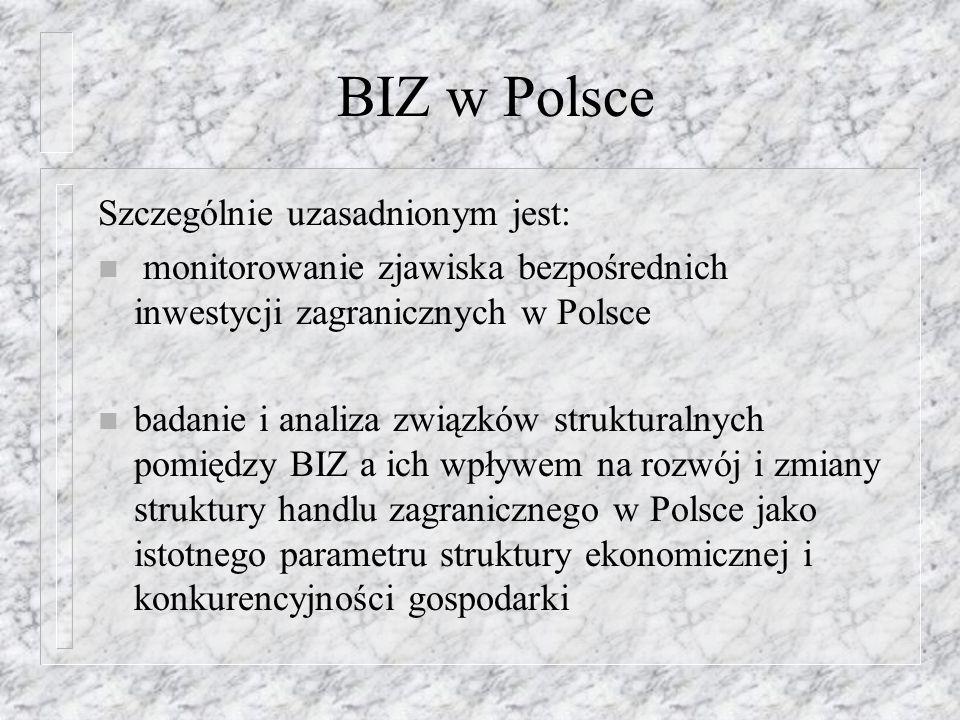 BIZ w Polsce Szczególnie uzasadnionym jest:
