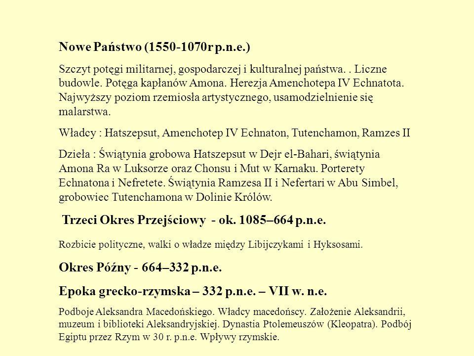 Epoka grecko-rzymska – 332 p.n.e. – VII w. n.e.