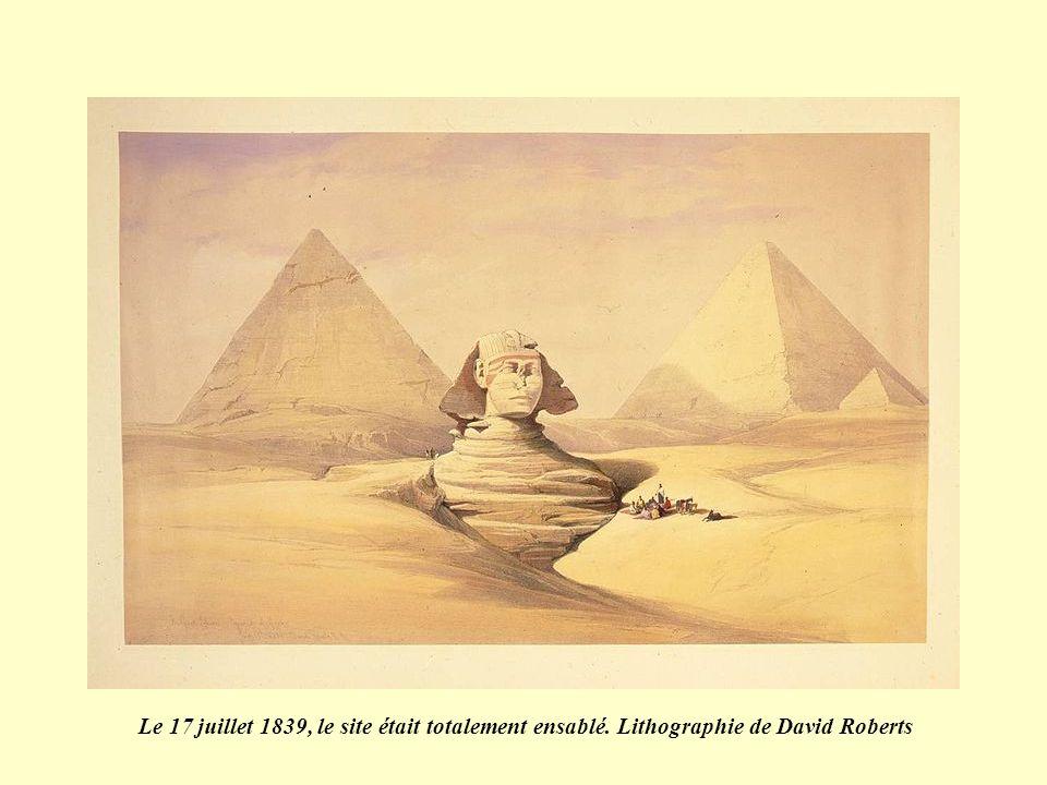 Le 17 juillet 1839, le site était totalement ensablé