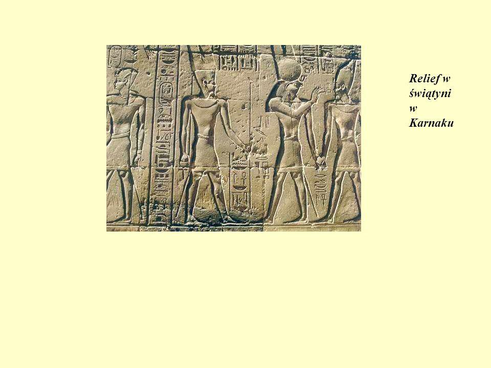 Relief w świątyni w Karnaku